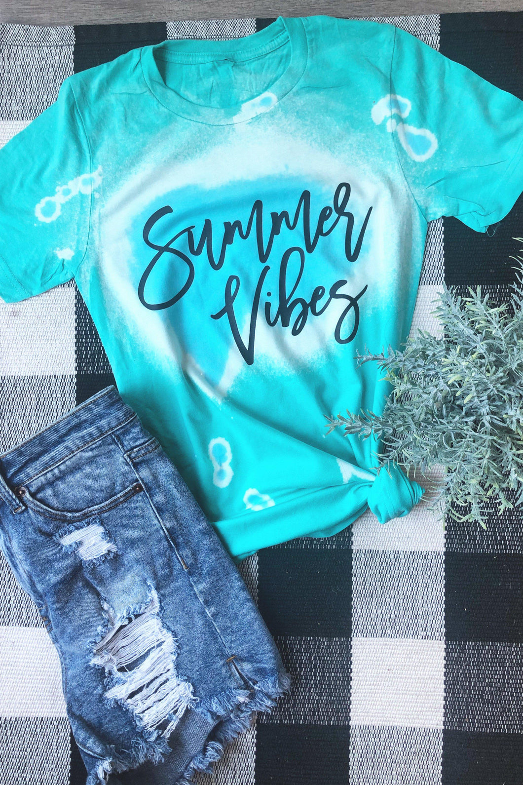 Summer Vibes Teal Tee