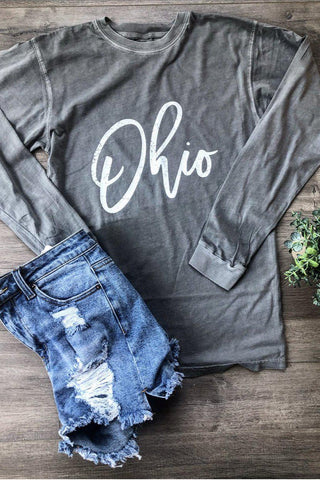 Vintage washed Ohio tee