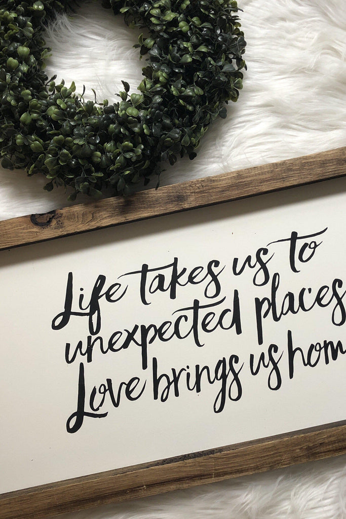 Life takes us to unexpected places