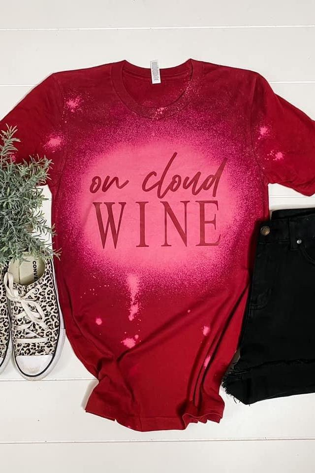 On Cloud Wine Bleached Tee