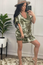 Load image into Gallery viewer, Olive Tie Dye Dress