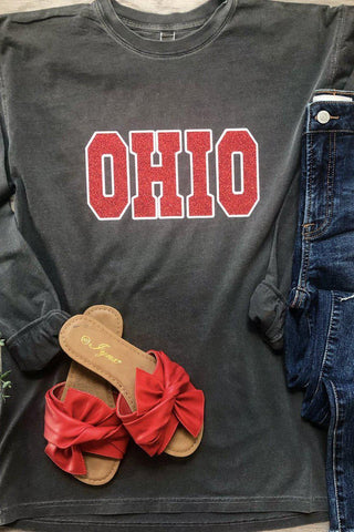 Vintage Washed Glitter Ohio