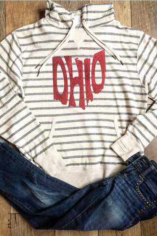 Ohio unisex striped Ohio hoodie