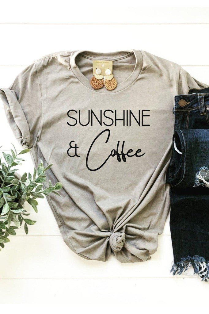 Sunshine and Coffee t-shirt