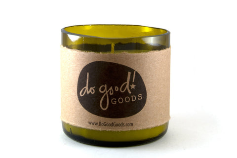 do good! candles - wine bottle