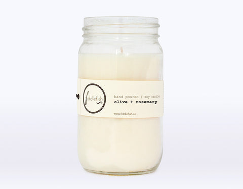 Olive + Rosemary Soy Candle
