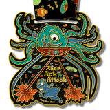 Alien Ack Attack Virtual Run Medal