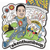 Ken Thumbs Up Virtual Run Medal