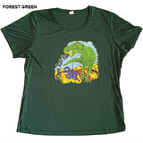 Sage Rat Run Ladies T-Rex Tech Shirt