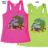 Sage Rat Run Ladies T-Rex Tank Top