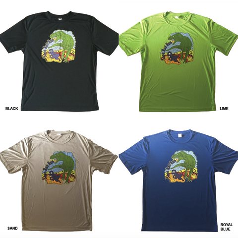 Sage Rat Run Mens T-Rex Tech Shirt