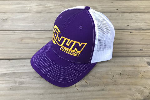 Purple/Gold Performance Fishing Hat