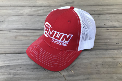 Red/White Performance Fishing Hat,Apparel - Cajun Lures