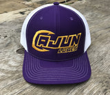 Purple/Gold Performance Fishing Hat - Cajun Lures