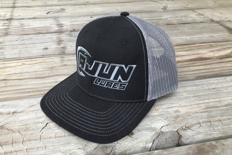 Black/Charcoal Performance Fishing Hat