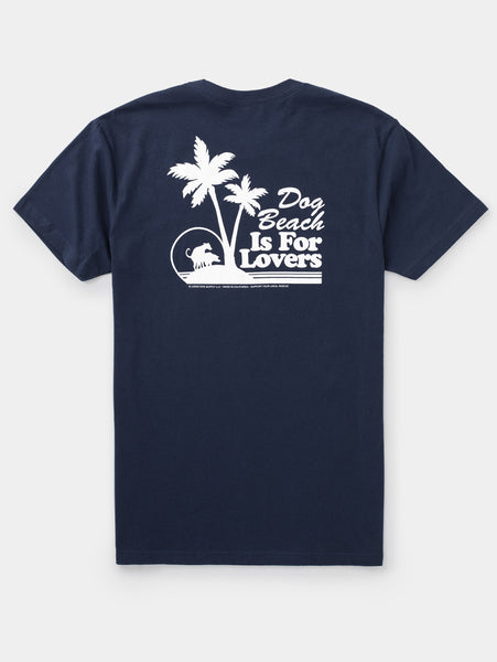 Dog Beach - Mens T-Shirt - Navy