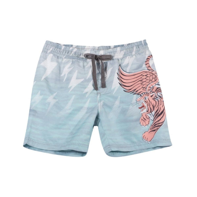Paper Wings Long Boardshorts Tiger