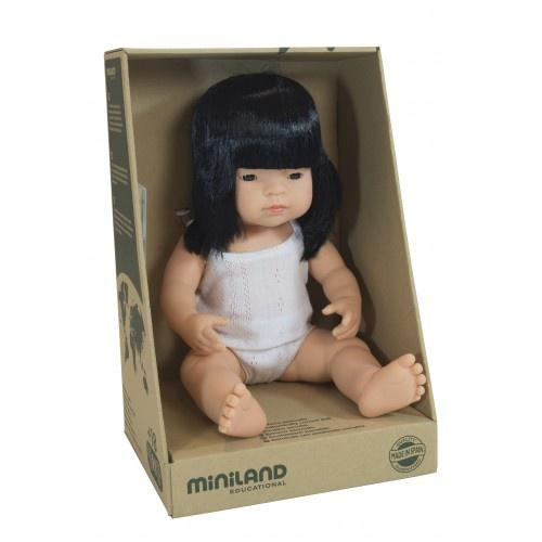 Miniland Anatomically Correct Baby Doll Asian Girl