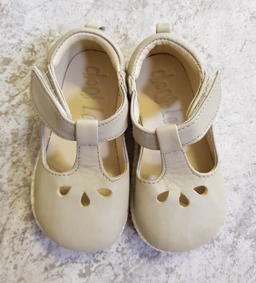 Chookleaf Sultan Handmade Leather Shoes Ivory