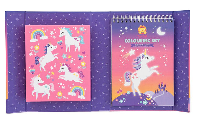 Tiger Tribe Colouring Set - Unicorn Magic