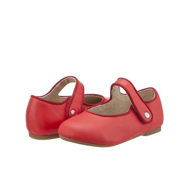 Old Soles Praline Lady Jane Bright Red Kids Shoes