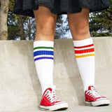 Pride Socks Courage Under the Knee Rainbow Tube Socks 19""