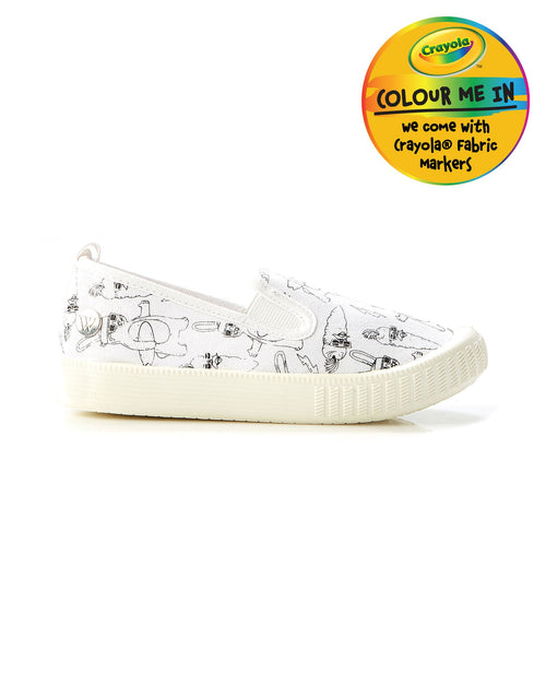 Walnut Crayola Classic Charlie Bunnies Canvas Shoe