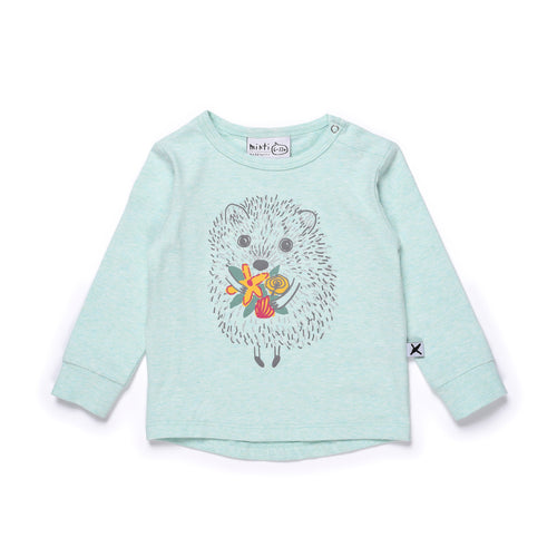 Minti Happy Hedgehog Tee Mint Marle