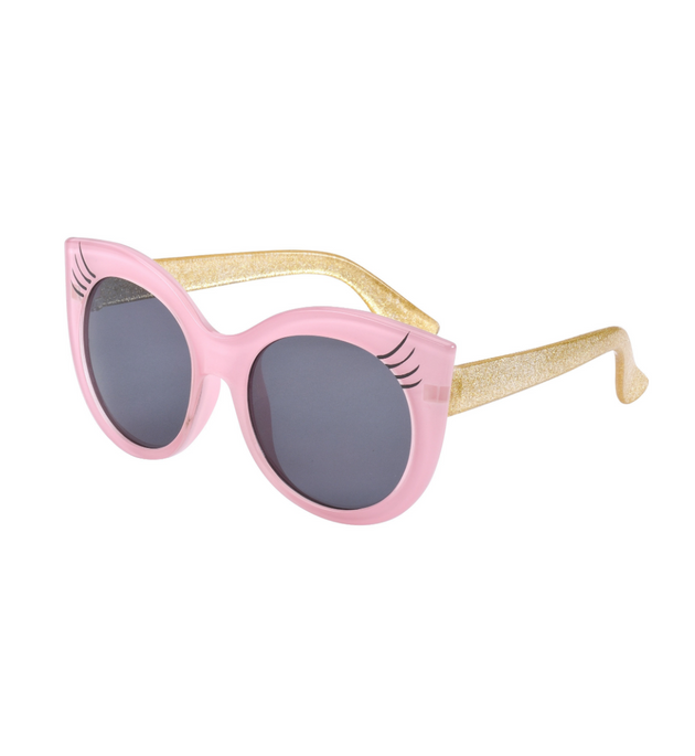 Frankie Ray Floss Sunglasses Pink with Lashes