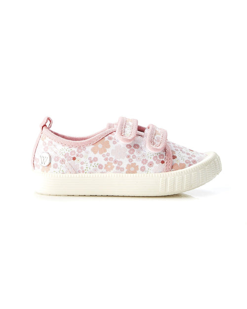 Walnut Play Classic Ben Pink Floral Canvas Shoe