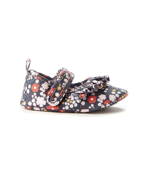 Walnut Play Mini MJ Navy Floral Canvas Shoe