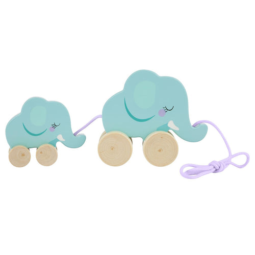 SunnyLife Elephant Family Push N Pull Toy