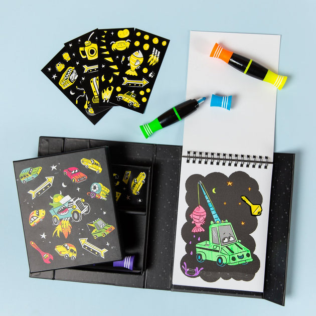 Tiger Tribe Neon Colouring Set - Road Stars