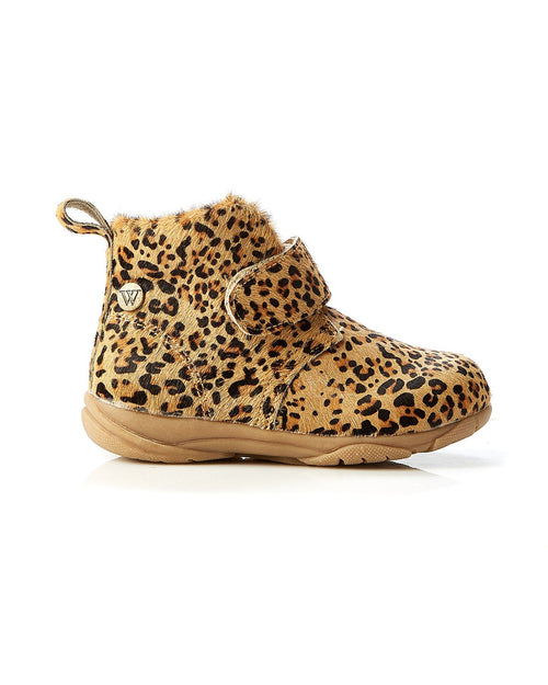 Walnut Rover Pony Strap Boot Mini Tan Leopard