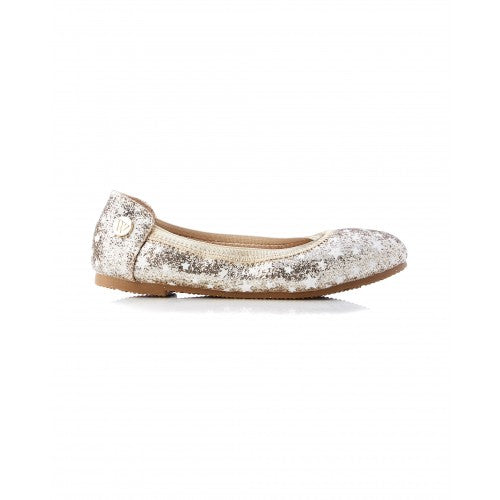 Walnut Catie Sparkle Star Gold Shoes