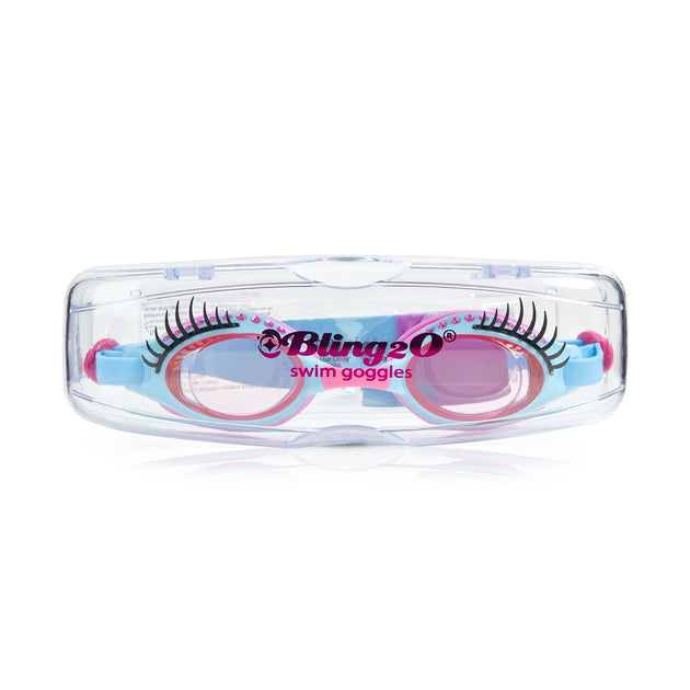 Bling2o Glam Lash Swim Goggles Beauty Parlour Pink