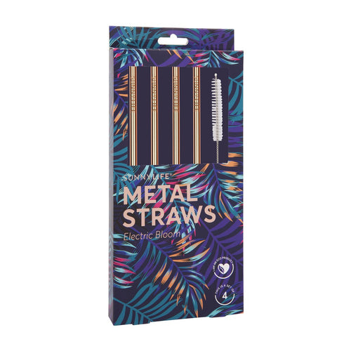 SunnyLife Metal Straws Bloom