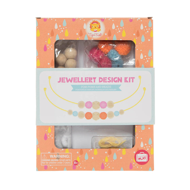 Tiger Tribe Jewellery Design Kit - Poms Poms and Beads