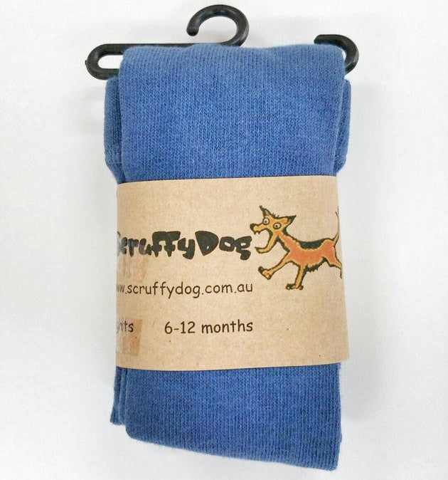 Scruffy Dog Tights - Steel Blue