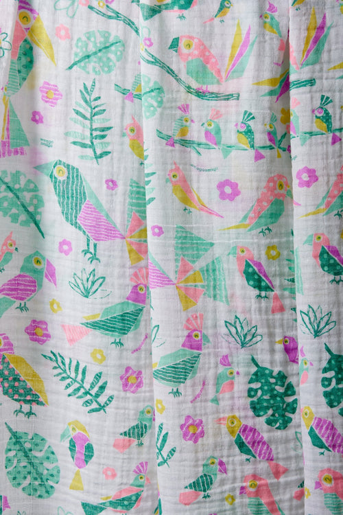 Weegoamigo Muslin Swaddle Tropical Bird