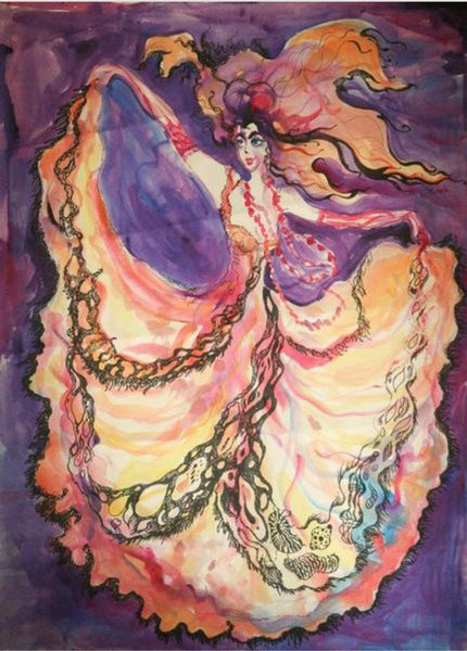 MM Dream Dance #3 Silk Scarf