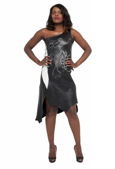 Scorpio Leather Dress