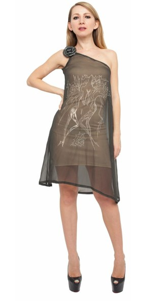 Gemini Silk Chiffon Dress