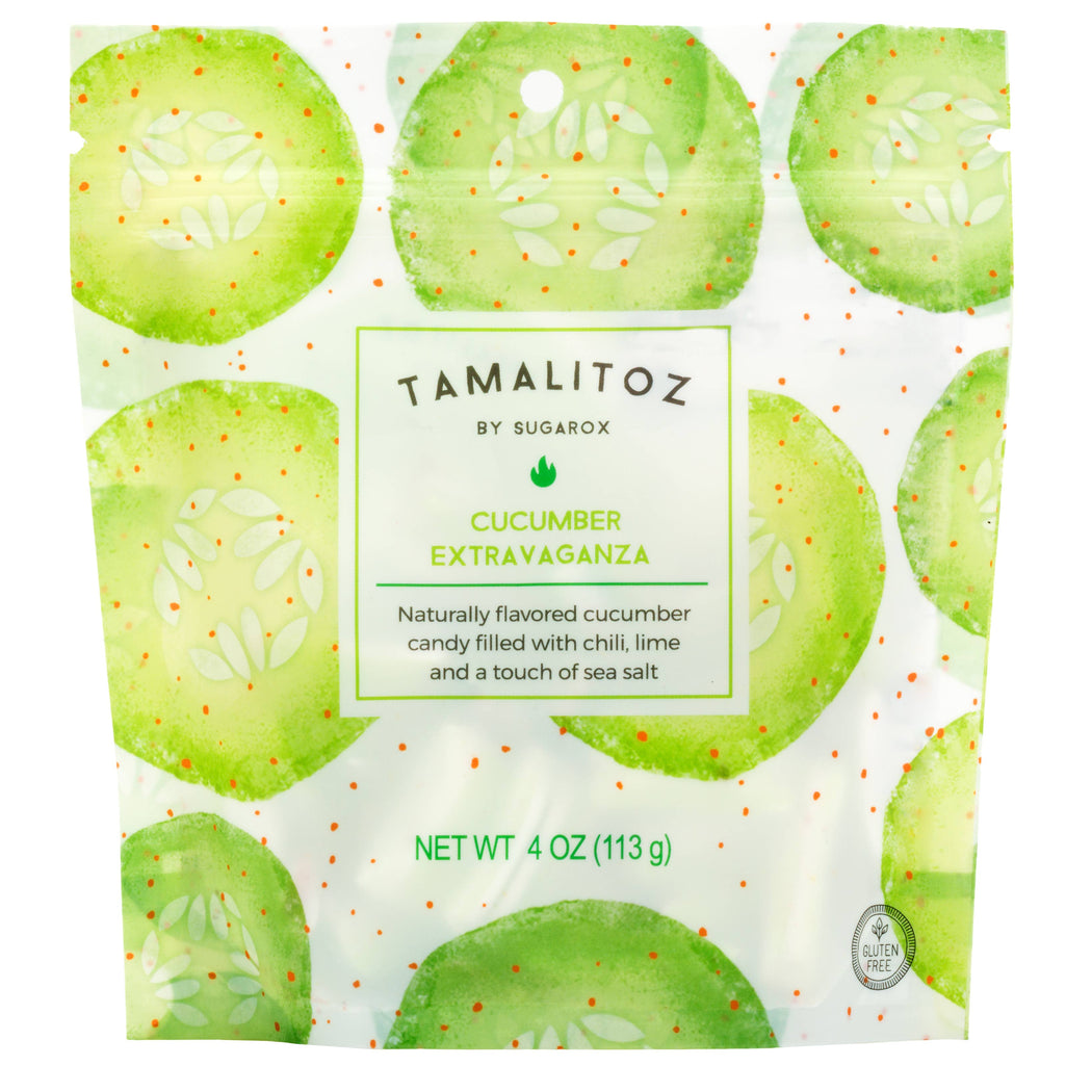 CUCUMBER EXTRAVAGANZA TAMALITOZ CANDY 12CT - The Tamale Company