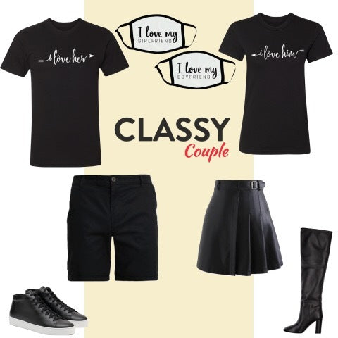 classy couple outfit