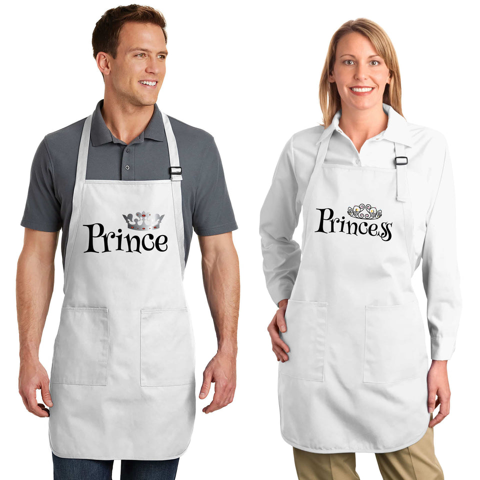 Prince & Princess - Couple Aprons