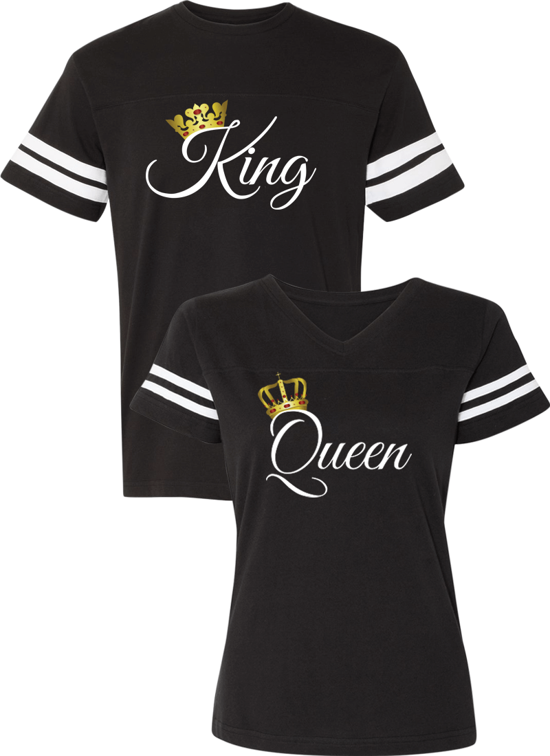 King and Queen - Couple Cotton Jerseys