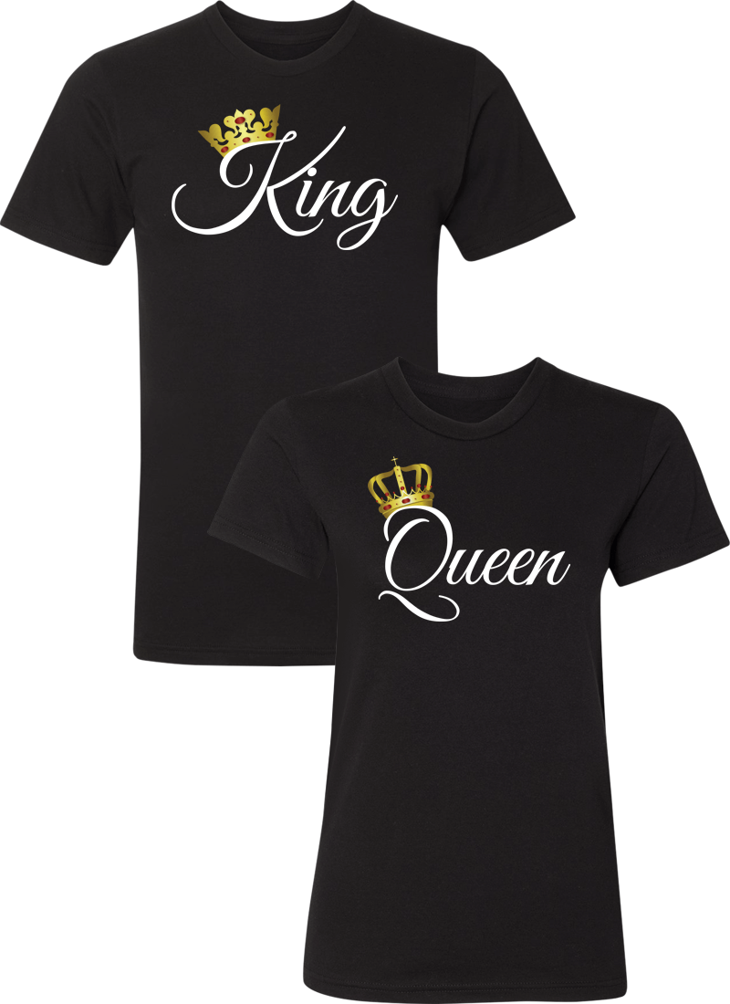 King and Queen Couple Matching Shirts