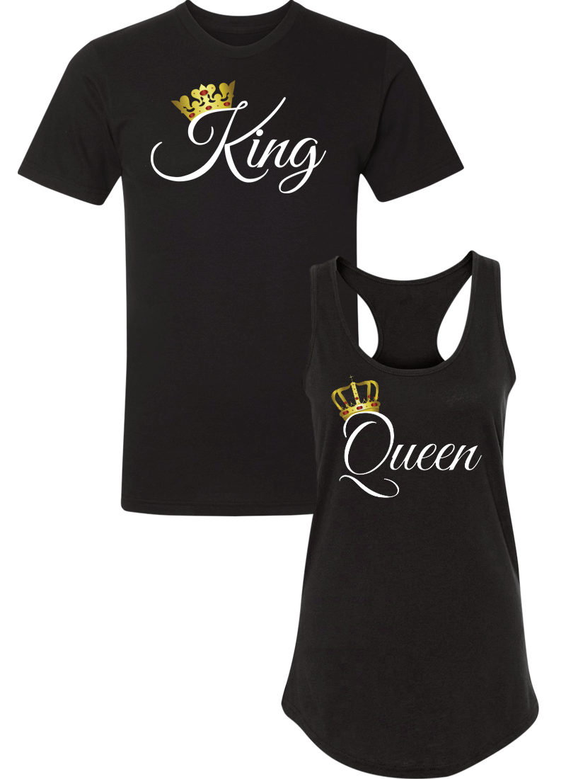 King and Queen - Couple Shirt Racerback