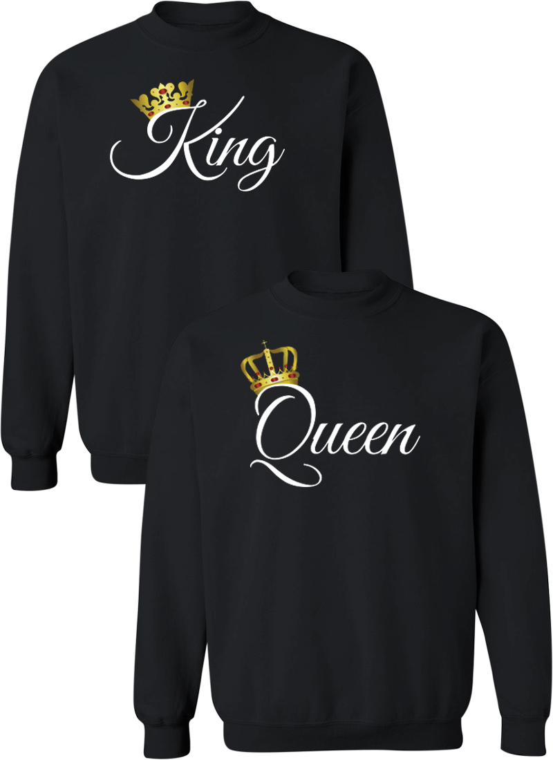King and Queen Couple Matching Sweatshirts